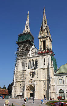 Cathedral in Zagreb Croatia by Borislav Marinic