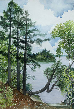 Cathedral Point - Trout Lake by Helen Klebesadel