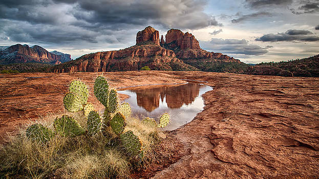 Cathedral Rock After the Storm by Larry Pollock