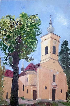 Catholic church in Sepsiszentgyorgy by Andrea Kucza