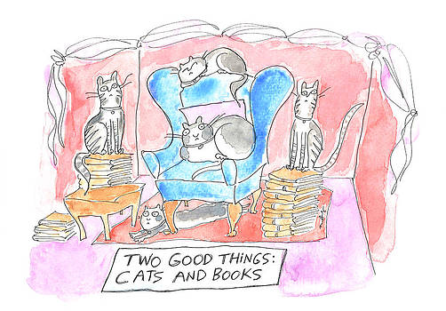 Cats And Books by Molly Brandenburg