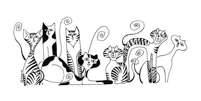 Cats by Barbara Lightner
