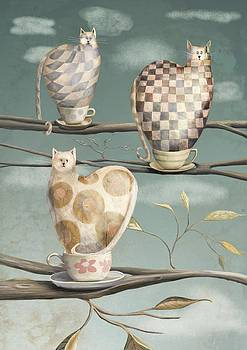 Cats in Cups by Catherine Swenson
