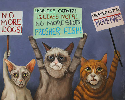 Leah Saulnier The Painting Maniac - Cats On Strike