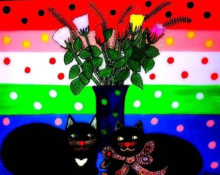 Maryann  DAmico - Cats on Valentines Day