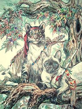 Cats Playing Indian by Sheila Tibbs