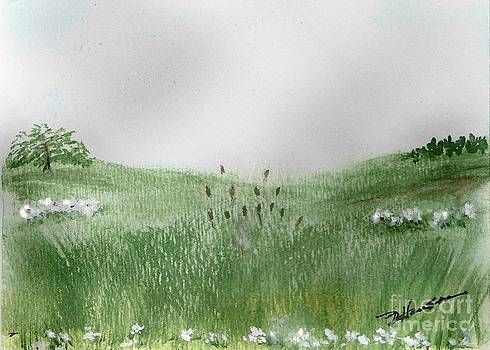 Cattails in the Rushes by Ruthann  Hanson