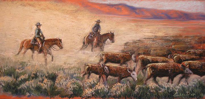 Cattle Drive by Barbara Lightner