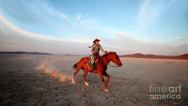 Cattlewoman in the Alvord Desert by Michele AnneLouise Cohen