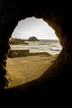 Cave view of Rocks near San Francisco CA Cliff House by G Matthew Laughton