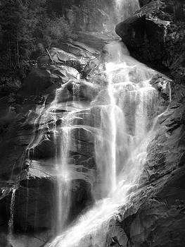 Cavern Waterfall - Shannon Falls, British Columbia - Black and White by Ian Mcadie