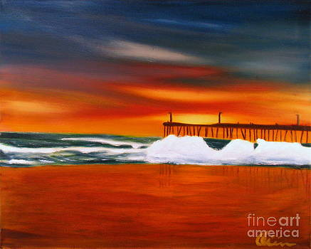 Cayucos Seascape by M Oliveira