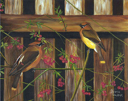 Cedar Waxwings by Denise Wagner