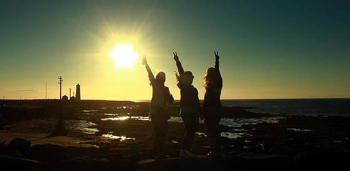 Celebrating sunset in Iceland  by Halldor  Sigurdsson