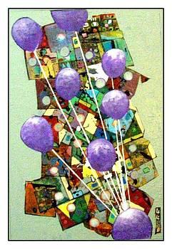 Celebration in violet by James  Lalepop Becker