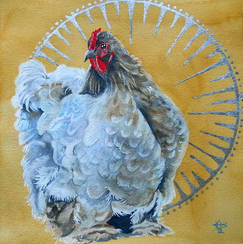 Celestial Chicken VI by Kirsten Beitler