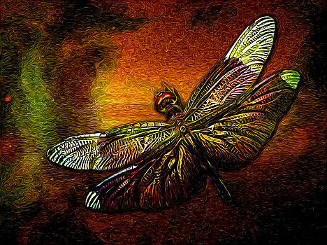 Celestial Dragonfly by The Feathered Lady