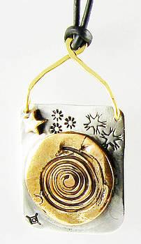 Celestial Spirit Talisman Silver and Bronze by Virginia Vivier