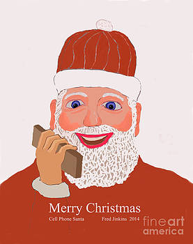 Cell Phone Santa by Fred Jinkins