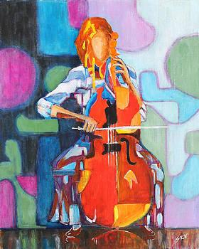Cello Player by Sanjeev Nandan