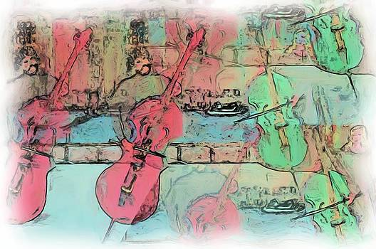 Cello Players Rooftop by Rick Todaro