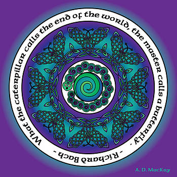 Celtic Butterfly Mandala by Celtic Artist Angela Dawn MacKay