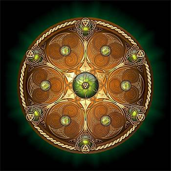 Celtic Chieftain Shield - Emerald by Richard Barnes