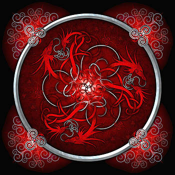 Celtic Dragons - Red by Richard Barnes