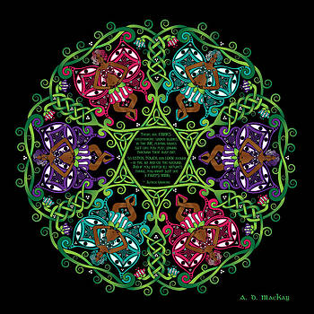 Celtic Artist Angela Dawn MacKay - Celtic Fairy Mandala
