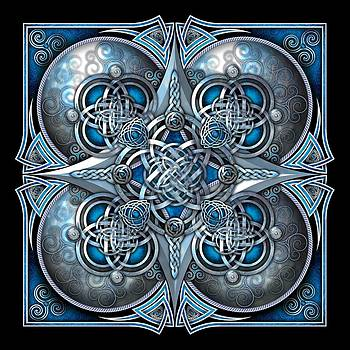 Celtic Hearts - Blue and Silver by Richard Barnes