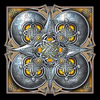 Celtic Hearts - Gold and Silver by Richard Barnes
