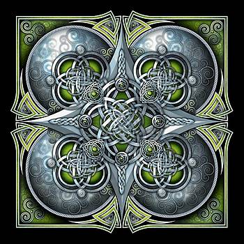 Celtic Hearts - Green and Silver by Ricky Barnes