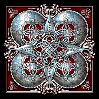 Celtic Hearts - Red by Richard Barnes