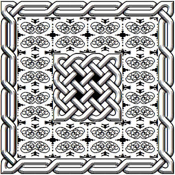Celtic knot abstract by John England