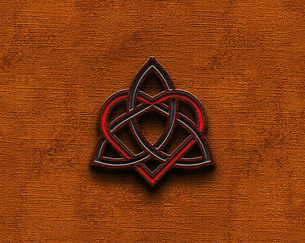 Brian Carson - Celtic Knotwork Valentine Heart Canvas Texture 1 Horizontal