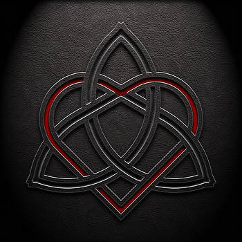 Brian Carson - Celtic Knotwork Valentine Heart Leather Texture 1