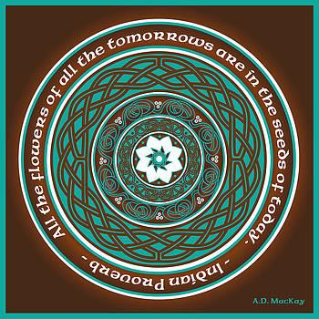 Celtic Lotus Mandala by Celtic Artist Angela Dawn MacKay