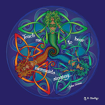 Celtic Artist Angela Dawn MacKay - Celtic Mermaid Mandala