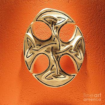 Celtic Pop Art Orange by Flow Fitzgerald