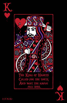 Celtic Queen of Hearts Part III The King of Hearts by Celtic Artist Angela Dawn MacKay