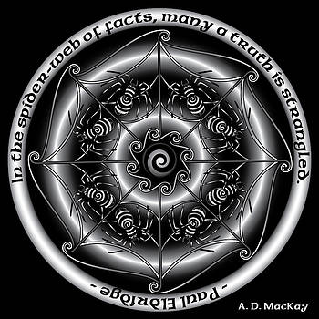 Celtic Spider Mandala by Celtic Artist Angela Dawn MacKay