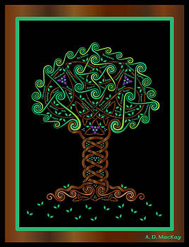 Celtic Tree of Life by Celtic Artist Angela Dawn MacKay