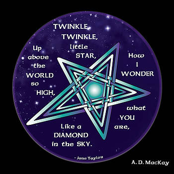 Celtic Twinkle Twinkle by Celtic Artist Angela Dawn MacKay
