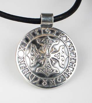 Celtic Viking Cross Rune Calendar by Vagabond Folk Art - Virginia Vivier