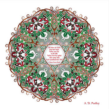 Celtic Artist Angela Dawn MacKay - Celtic Winter Fairy Mandala