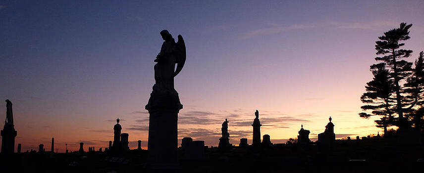 Cemetery Sunset by Ami Clayton