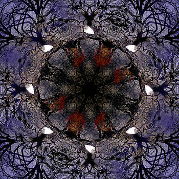 Cemetery Tree Kaleidoscope by Kelly E Schultz