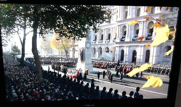 Cenotaph  London  Remembrance Service by Geoff Cooper