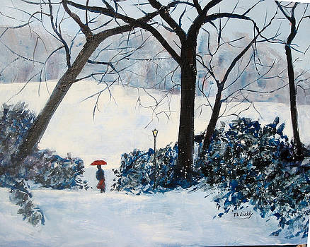 Central Park in Winter by Morris Eaddy