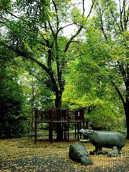 Central Park Playground by Claudette Bujold-Poirier